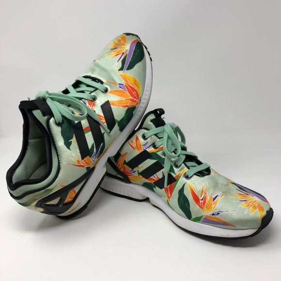 exquisite style cheaper detailed look Adidas Originals Men ZX Flux NPS Birds of Paradise